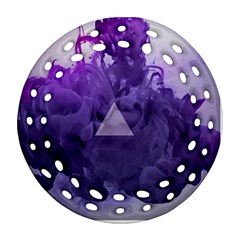 Smoke Triangle Lilac  Ornament (round Filigree) by amphoto
