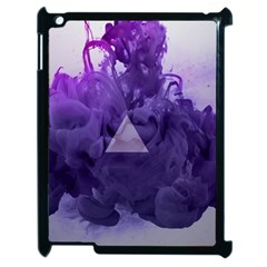 Smoke Triangle Lilac  Apple Ipad 2 Case (black) by amphoto