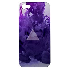 Smoke Triangle Lilac  Apple Iphone 5 Hardshell Case by amphoto