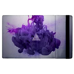 Smoke Triangle Lilac  Apple Ipad 3/4 Flip Case by amphoto