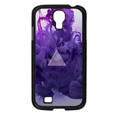 Smoke Triangle Lilac  Samsung Galaxy S4 I9500/ I9505 Case (black) by amphoto
