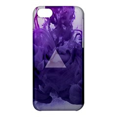 Smoke Triangle Lilac  Apple Iphone 5c Hardshell Case by amphoto