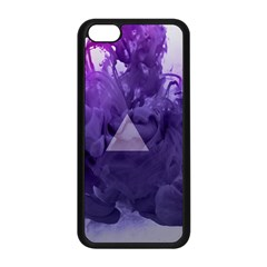 Smoke Triangle Lilac  Apple Iphone 5c Seamless Case (black) by amphoto