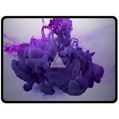 Smoke Triangle Lilac  Double Sided Fleece Blanket (large)  by amphoto