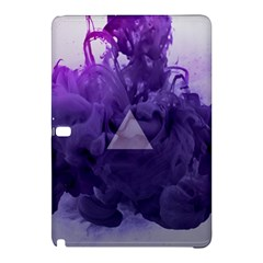 Smoke Triangle Lilac  Samsung Galaxy Tab Pro 10 1 Hardshell Case by amphoto