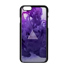 Smoke Triangle Lilac  Apple Iphone 6/6s Black Enamel Case by amphoto