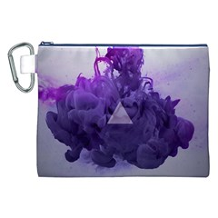 Smoke Triangle Lilac  Canvas Cosmetic Bag (xxl) by amphoto