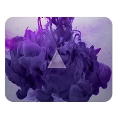 Smoke Triangle Lilac  Double Sided Flano Blanket (large)  by amphoto