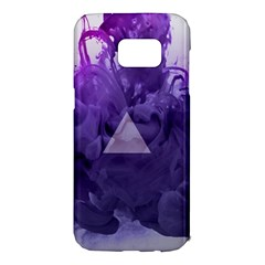 Smoke Triangle Lilac  Samsung Galaxy S7 Edge Hardshell Case by amphoto