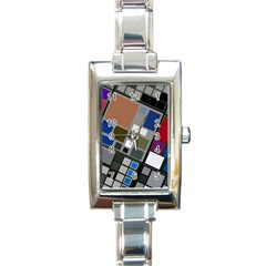 Abstract Composition Rectangle Italian Charm Watch