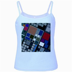 Abstract Composition Baby Blue Spaghetti Tank