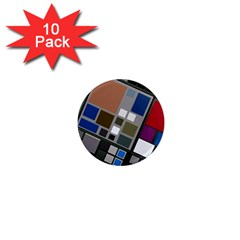 Abstract Composition 1  Mini Magnet (10 Pack)