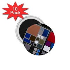 Abstract Composition 1 75  Magnets (10 Pack)  by Nexatart