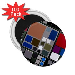 Abstract Composition 2 25  Magnets (100 Pack)
