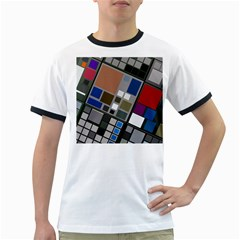 Abstract Composition Ringer T Shirts