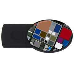 Abstract Composition Usb Flash Drive Oval (4 Gb)