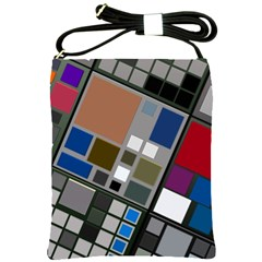 Abstract Composition Shoulder Sling Bags by Nexatart