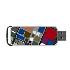 Abstract Composition Portable Usb Flash (one Side) by Nexatart