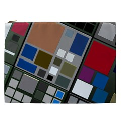 Abstract Composition Cosmetic Bag (xxl)