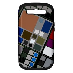 Abstract Composition Samsung Galaxy S Iii Hardshell Case (pc+silicone) by Nexatart