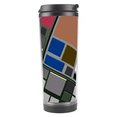 Abstract Composition Travel Tumbler by Nexatart