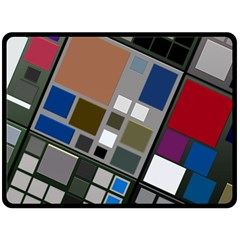 Abstract Composition Double Sided Fleece Blanket (large)  by Nexatart