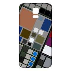 Abstract Composition Samsung Galaxy S5 Back Case (white)