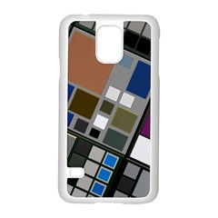 Abstract Composition Samsung Galaxy S5 Case (white) by Nexatart