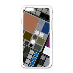 Abstract Composition Apple Iphone 6/6s White Enamel Case by Nexatart