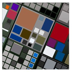 Abstract Composition Large Satin Scarf (square)