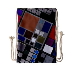 Abstract Composition Drawstring Bag (small)