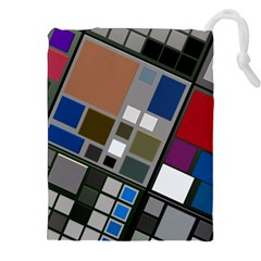 Abstract Composition Drawstring Pouches (xxl)