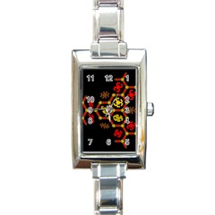 Algorithmic Drawings Rectangle Italian Charm Watch