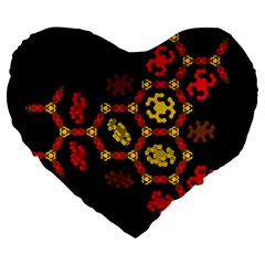 Algorithmic Drawings Large 19  Premium Heart Shape Cushions by Nexatart
