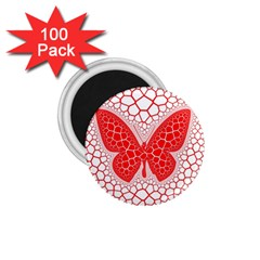 Butterfly 1 75  Magnets (100 Pack)