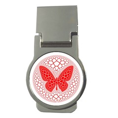 Butterfly Money Clips (round)  by Nexatart