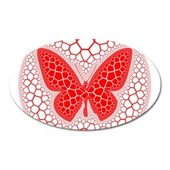 Butterfly Oval Magnet