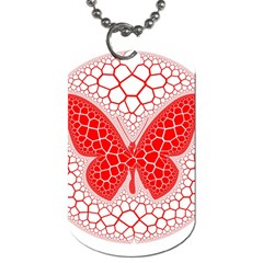 Butterfly Dog Tag (two Sides)