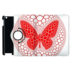 Butterfly Apple Ipad 2 Flip 360 Case by Nexatart