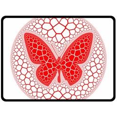 Butterfly Double Sided Fleece Blanket (large)  by Nexatart