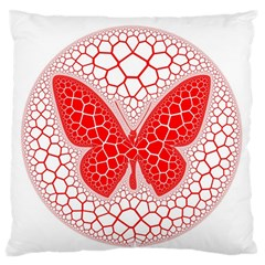 Butterfly Large Flano Cushion Case (one Side) by Nexatart