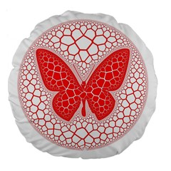 Butterfly Large 18  Premium Flano Round Cushions