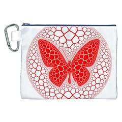 Butterfly Canvas Cosmetic Bag (xxl) by Nexatart