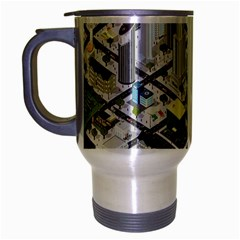 Simple Map Of The City Travel Mug (silver Gray)