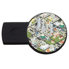 Simple Map Of The City Usb Flash Drive Round (4 Gb)
