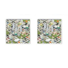 Simple Map Of The City Cufflinks (square) by Nexatart