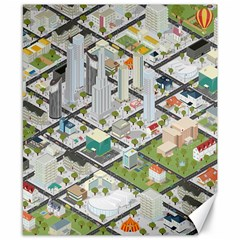 Simple Map Of The City Canvas 8  X 10  by Nexatart