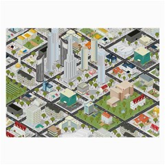 Simple Map Of The City Large Glasses Cloth