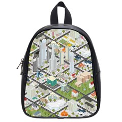 Simple Map Of The City School Bag (small)
