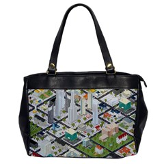 Simple Map Of The City Office Handbags